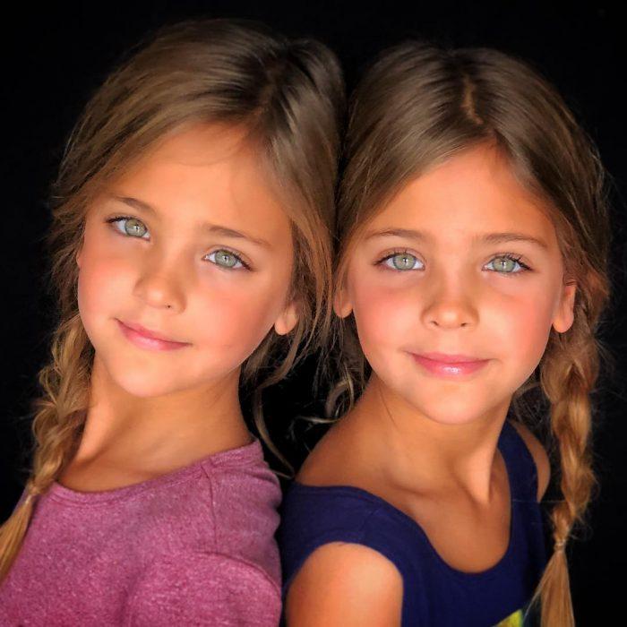 gemelas ojos bonitos