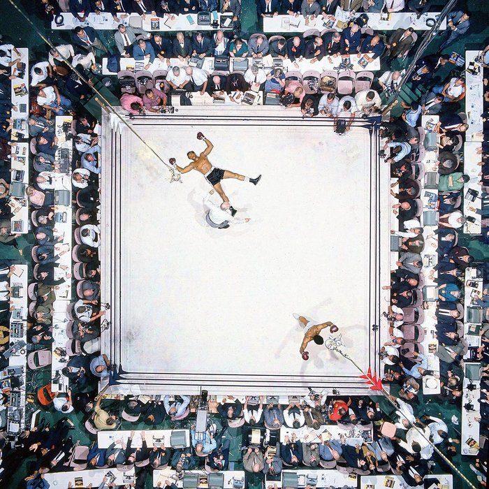 ring de box visto desde lals alturas