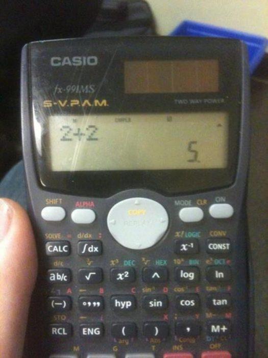 Calculadora que no sabe sumar