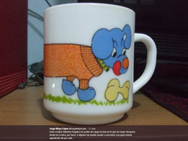 rompió la taza de su esposa
