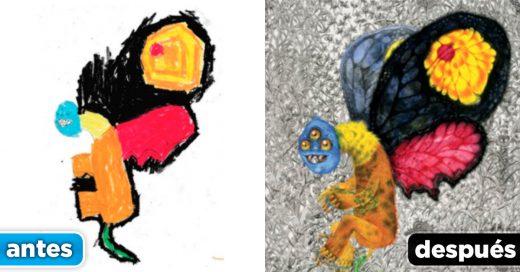 Cover recrea los monstruos de los niños
