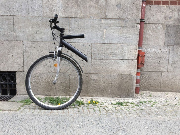 mitad de bicicleta