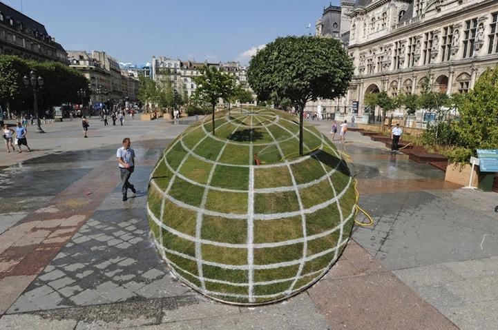 jardin en forma esferica