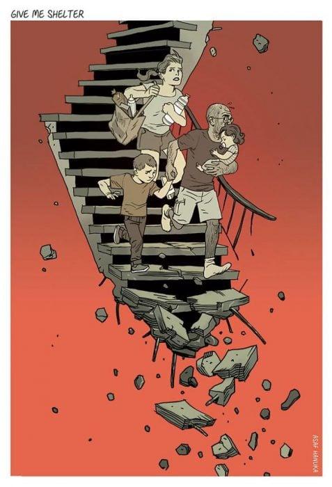 escaleras se deshacen
