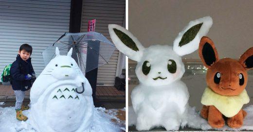 Cover Olaf es una vergüenza comparado con los muñecos de nieve que hacen en Tokio
