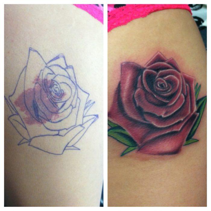 tatuajes sobre marcas nacimiento