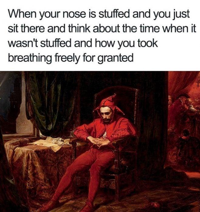 nariz tapada