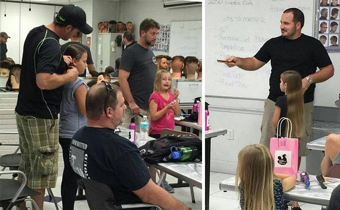 hombres tomando clases de peinado