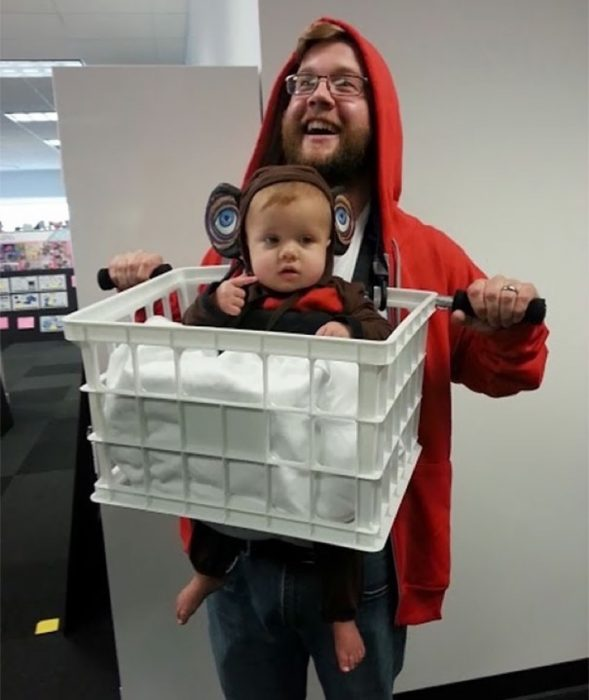 disfras divertido de padre e hijo