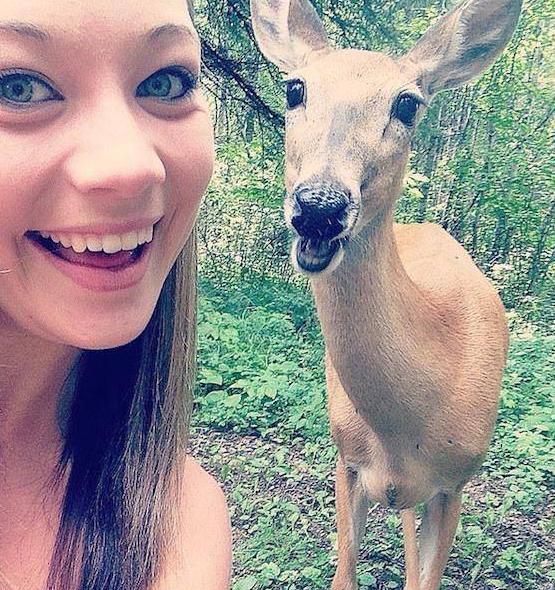 selfie con venado