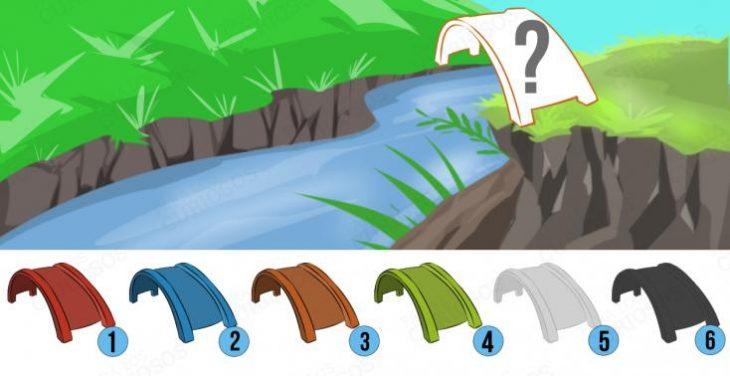 Ilustración de paisaje con puentes de colores