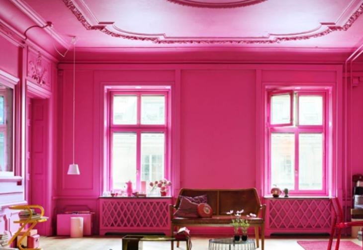 espacio color rosa