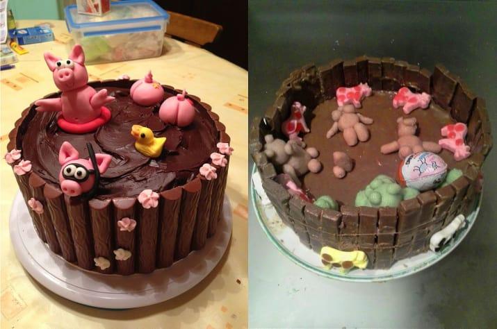 pastel con figuras