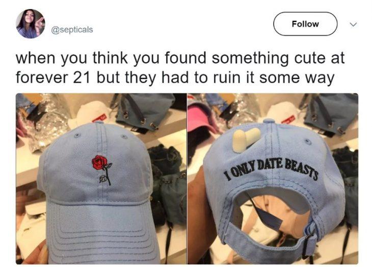 cosas molestas con ropa de mujer