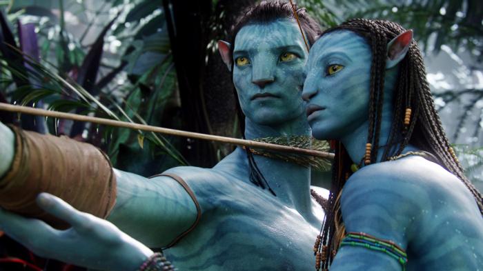 personajes azules