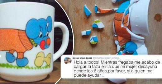 Cover Rompió la taza de su mujer y pidió ayuda en internet