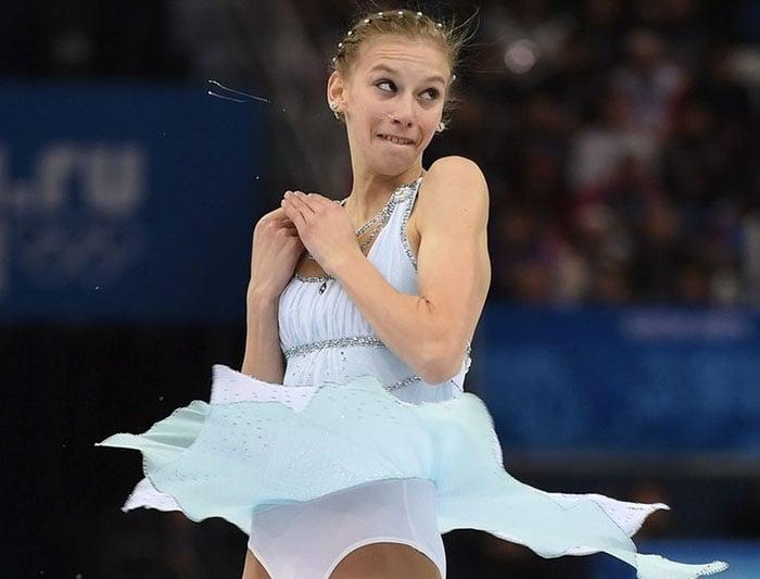 Caras del patinaje- mujer moco