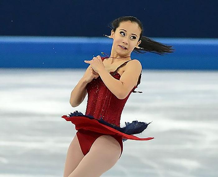 Caras del patinaje- mujer aretes