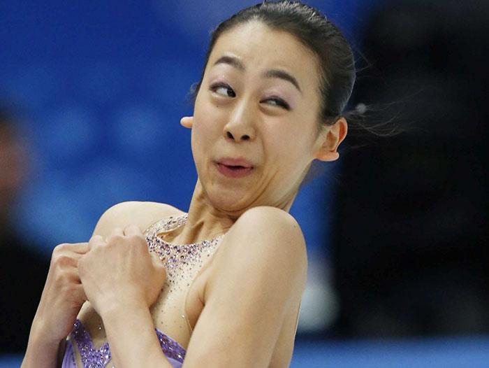 Caras del patinaje- mujer cara rara