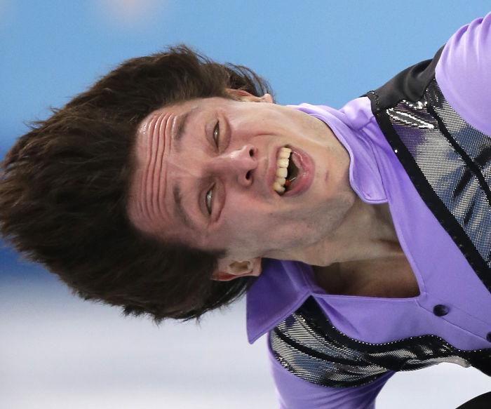 Caras del patinaje- cara extraña