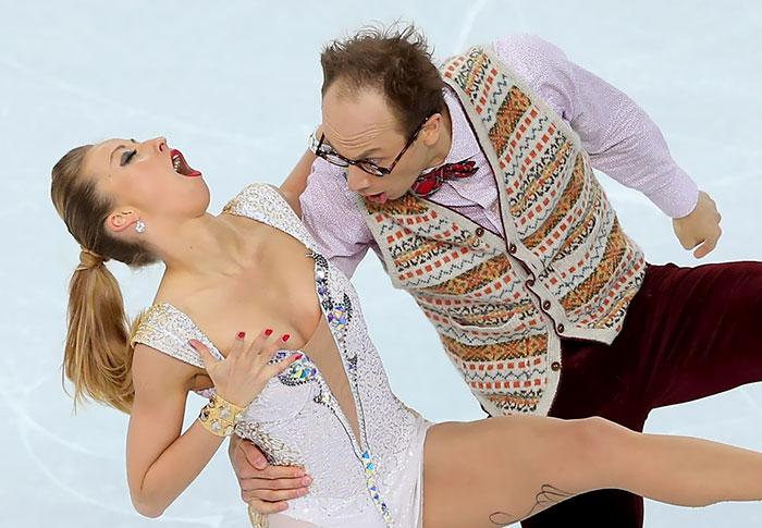 Caras del patinaje- baile pareja