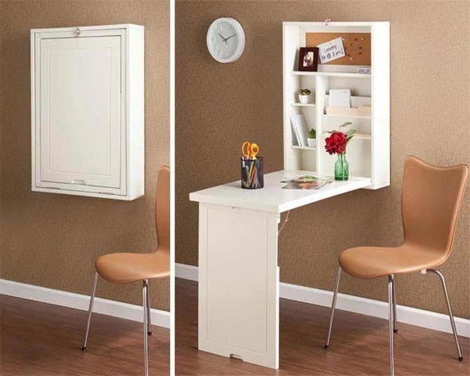 Ideas para espacios pequeños escritorio minimalista reclinable
