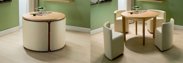 Ideas para espacios pequeños mesas y sillones compactos