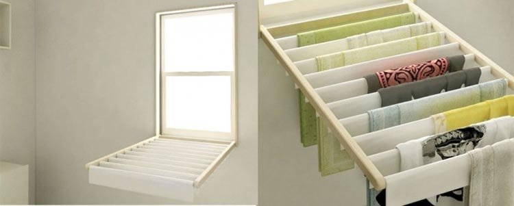 Ideas para espacios pequeños tendedero reclinable en casa