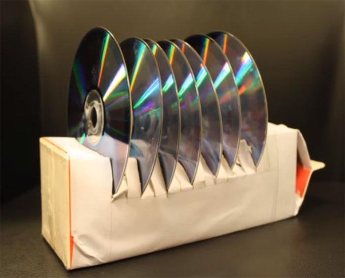 cartón cd's