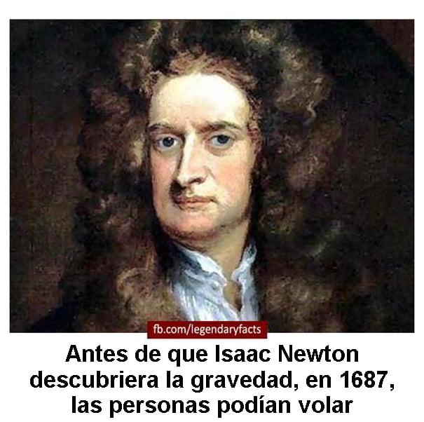 isaac newton gravedad