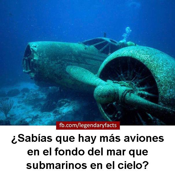 aviones fondo del mar