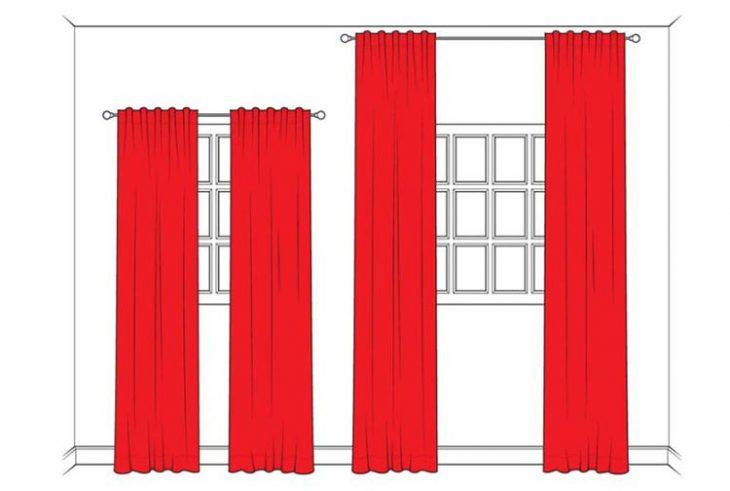 Espacios pequeños cortinas correctas
