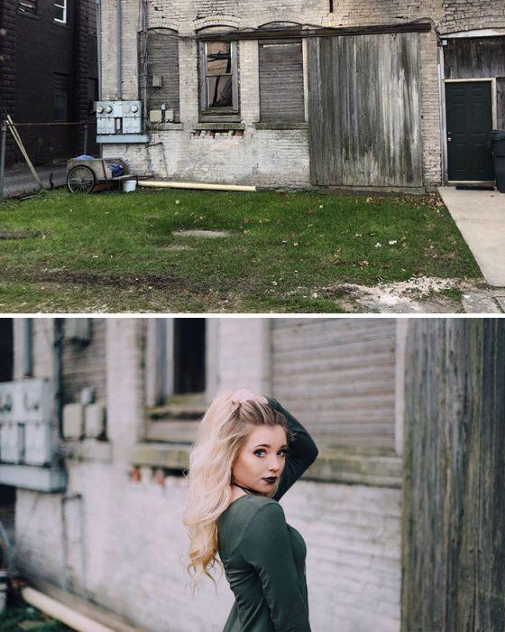 foto en lugar abandonado