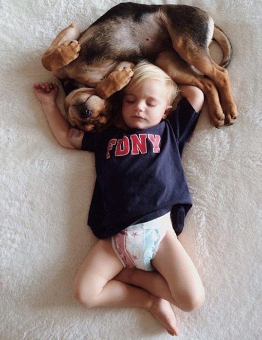 niño y perrito - playera y pañales