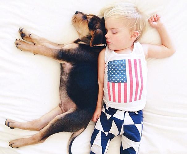 niño y perrito - playera de estados unidos
