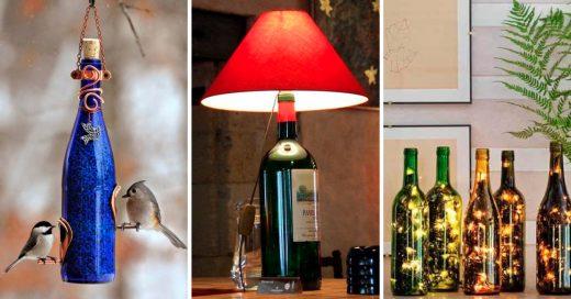 Cover maneras ingeniosas de reciclar las botellas de vidrio