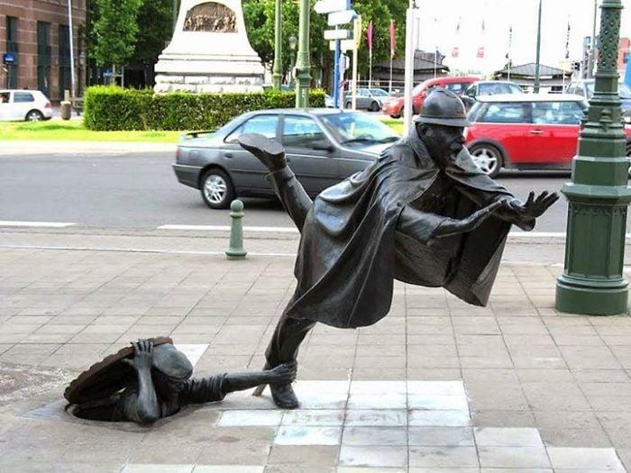 esculturas en equilibrio