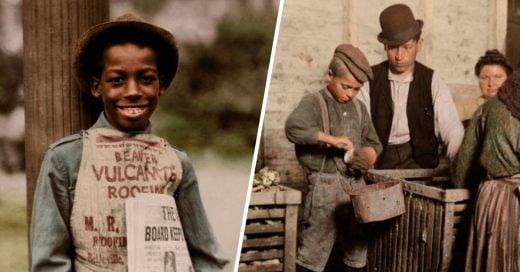 Cover Colorista da vida a fotografías antiguas de niños trabajando y este es el interesante resultado