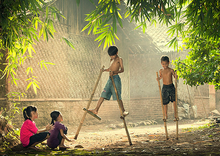sancos de bambu