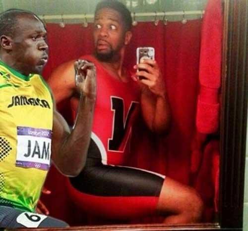 selfie corriendo