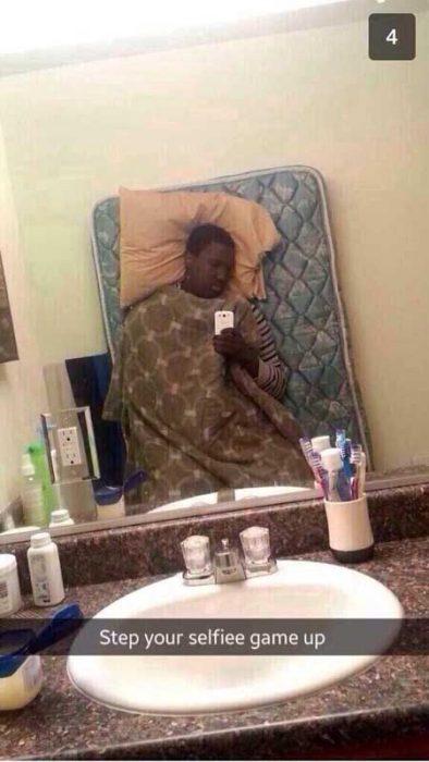 selfie dormido