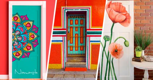Diseños originales para decorar las puertas de tu hogar