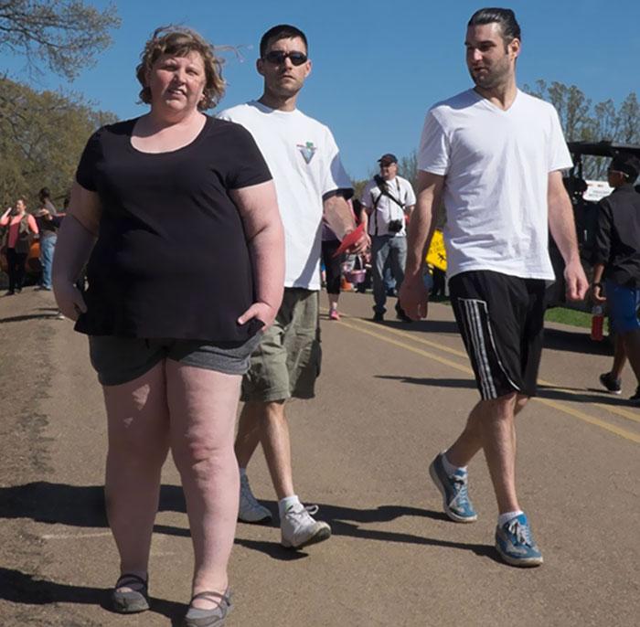Mujer con shorts