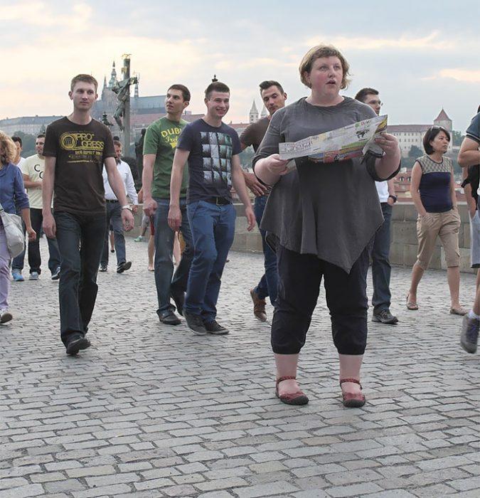 Mujer en calle