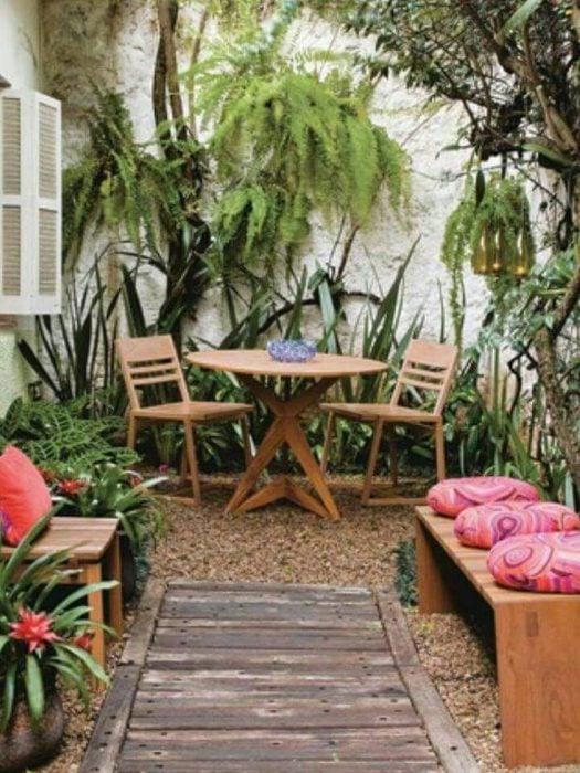 Jardines lindos para crear un momento de confort