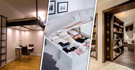 Ideas inteligentes para ahorrar espacio en tu habitacion