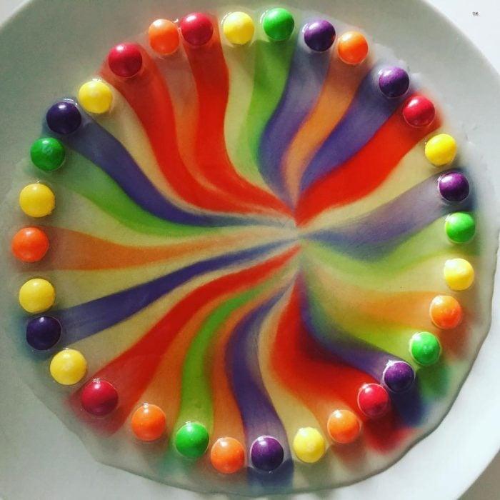 arcoíris de dulce