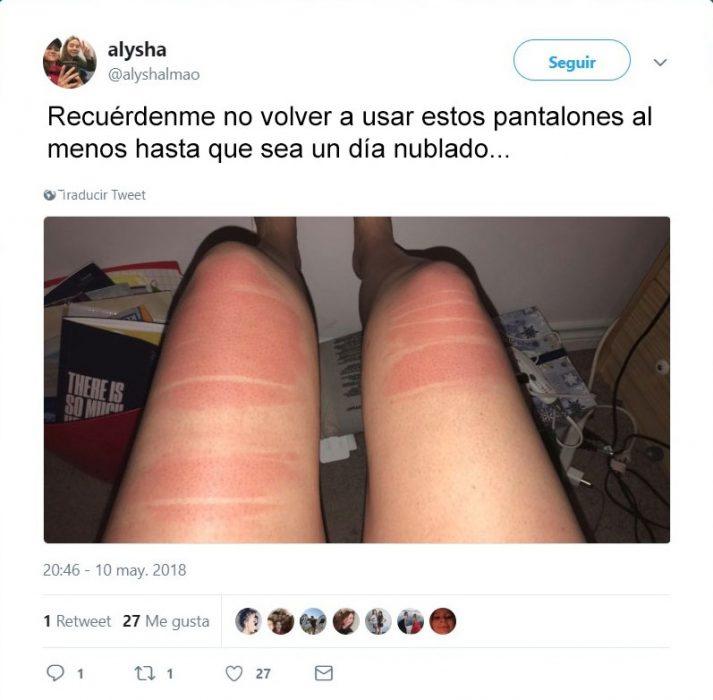 pantalón roto bronceado