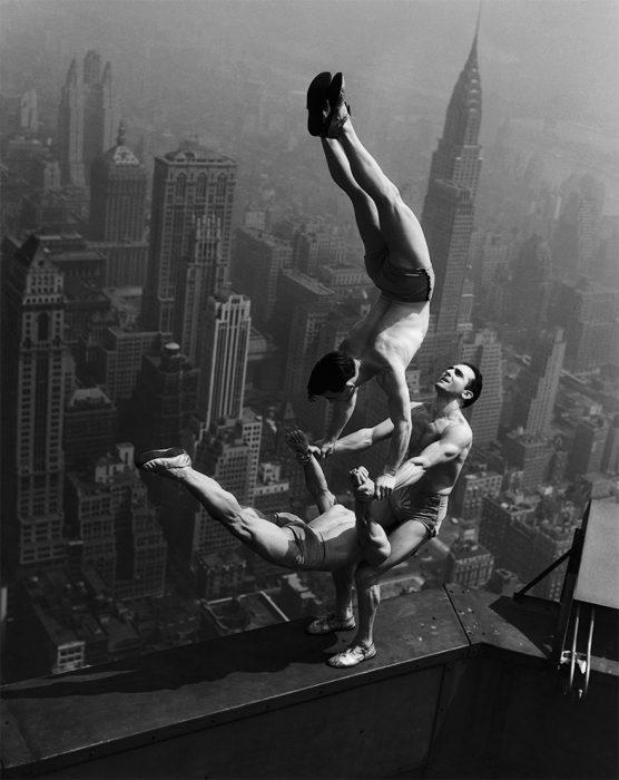 Acróbatas en la cima del Empire State -1934