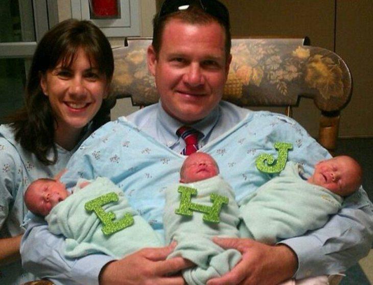 Adoptaron trillizos y esperaban gemelos